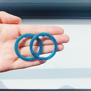 Jewelry - 🆙Acrylic Blue Hoop Earrings
